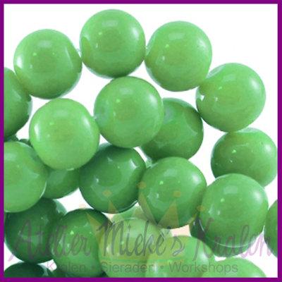 Glaskraal baked - keramisch ø8mm Bright groen