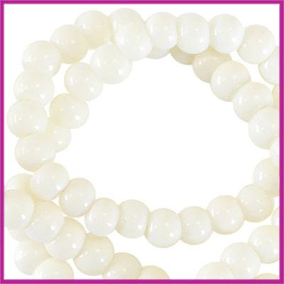 Glaskralen basic opaque ø3mm silk beige