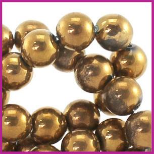 Glaskraal High Shine ø6mm Copper Gold