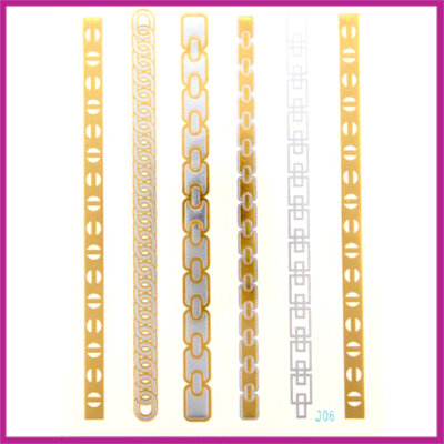 Boho Flash Tattoo goud - zilver moderne armbandjes