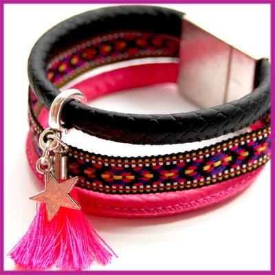 Do It Yourself pakket imitatie BlinQz Aztec zwart - roze