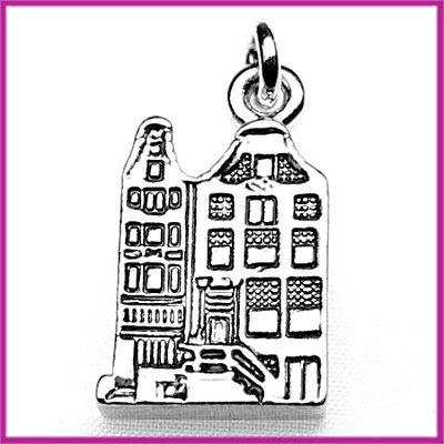 Metaal bedel/hanger pakhuis antiek zilver
