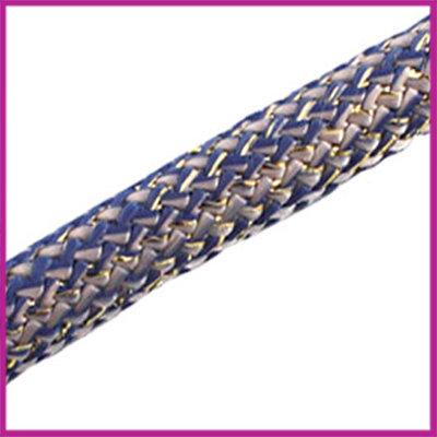 Dreamz koord 10mm Grijs Blauw Goud per 10cm