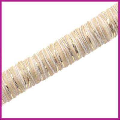 Knitt koord 10mm Ivoor goud per 10cm