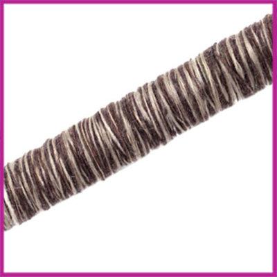 Knitt koord 10mm Donker bruin per 10cm