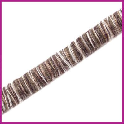 Knitt koord 5mm Donker bruin per 10cm