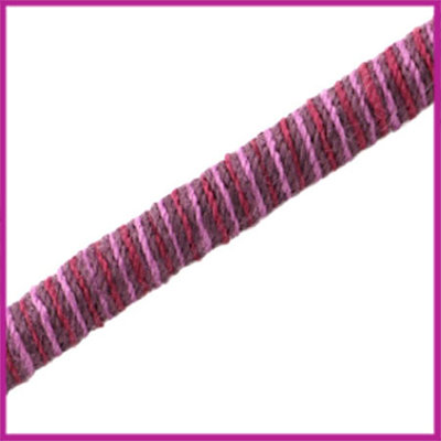 Knitt koord 5mm Pink purple per 10cm
