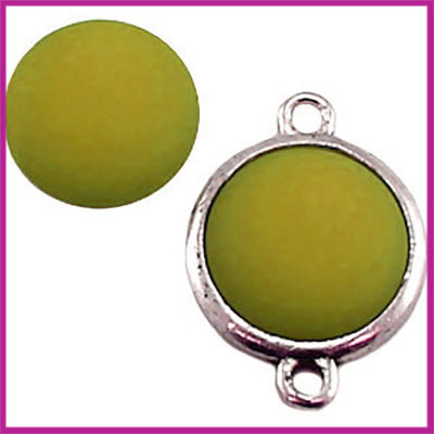 Polaris Cabuchon matt 12mm Olivine Green