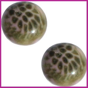 Cabuchon Polaris 12mm leopard pink