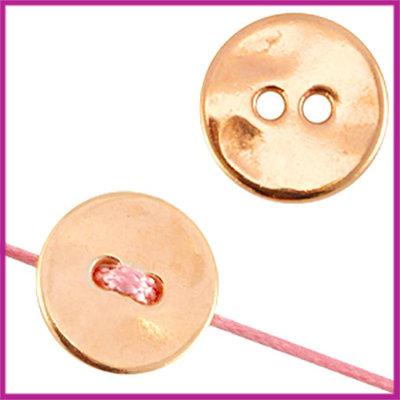 DQ metaal knoop rond 15mm Rosegold