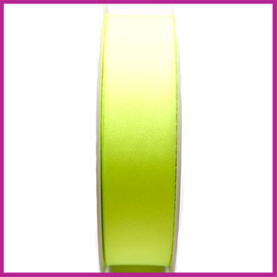 Ibiza lycra lint 25mm Neon geel