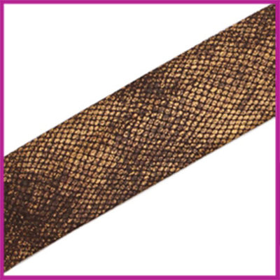 Ibiza elastisch lint 30mm Snake dark brown