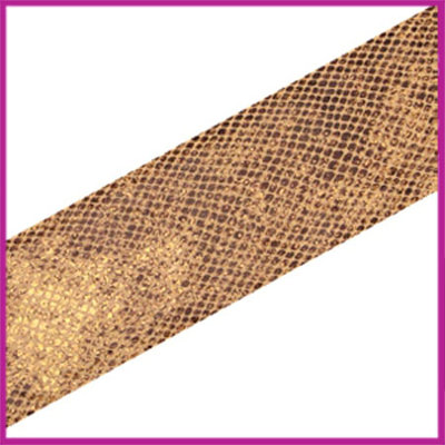 Ibiza elastisch lint 30mm Snake light brown