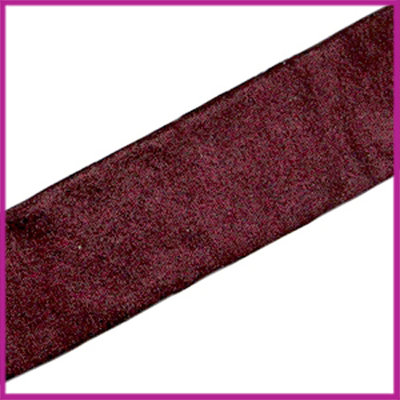 Ibiza elastisch lint 30mm Metallic aubergine red