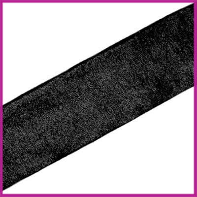 Ibiza elastisch lint 30mm Metallic black