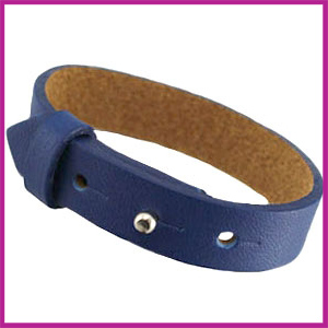 Cuoio armband leer voor cabuchon 20mm Dark blue