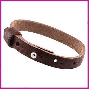LC armband leer 10mm Donker bruin