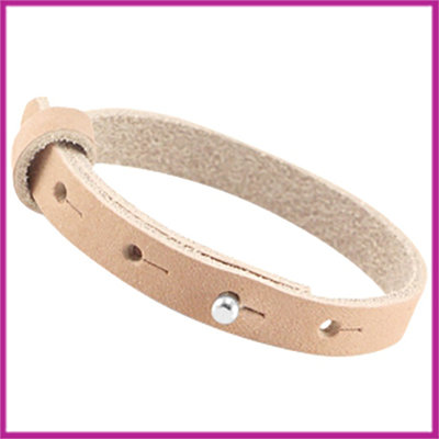 LC armband leer 10mm sandstone brown