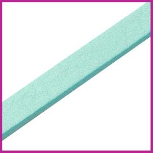Lovi DQ Florentijns leer plat 10mm Aqua blue ca. 21cm