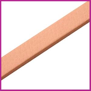 Lovi DQ Florentijns leer plat 10mm Pastel peach ca. 21cm