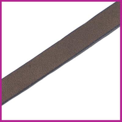 Lovi DQ Florentijns leer plat 10mm Deep Greige Brown ca. 21cm