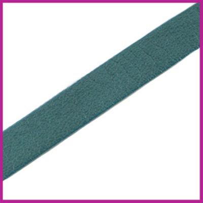 Lovi DQ Florentijns leer plat 10mm Petrol Blue Green ca. 21cm