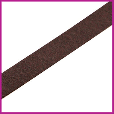 Lovi DQ leer plat 10mm Dark brown ca. 22,5cm