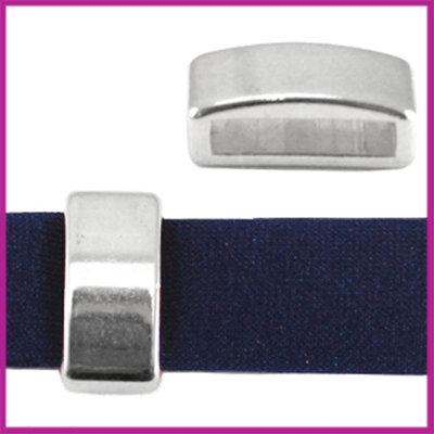 DQ metaal schuiver 12mm (voor leren ring) Antiek Zilver
