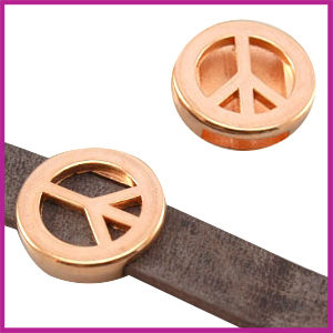 Lovi DQ metaal schuiver Peace 18mm Rosegold