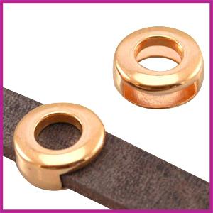 Lovi DQ metaal schuiver rond 13mm Rosegold