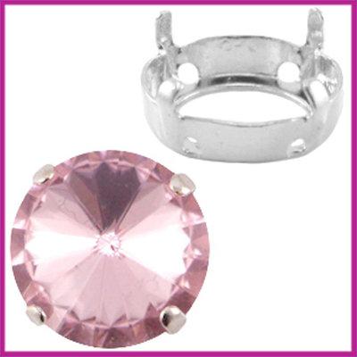 Love Crystals DQ setting/verdeler 12mm Zilver