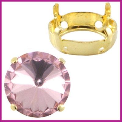 Love Crystals DQ setting/verdeler 12mm Goud
