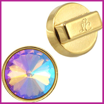 Love Crystals DQ setting/slider 14mm Goud