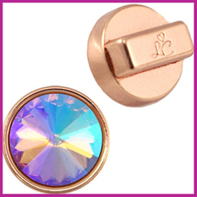 Love Crystals DQ setting/slider 14mm Rosegold