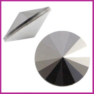 LC Rivoli puntsteen 1122 - 12mm Crystal platin