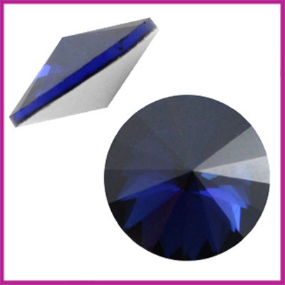 LC Rivoli puntsteen 1122 - 12mm Cobalt satin blue