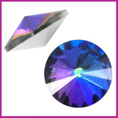 LC Rivoli puntsteen 1122 - 12mm Crystal bermuda blue
