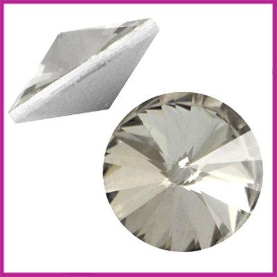LC Rivoli puntsteen 1122 - 12mm Black diamond