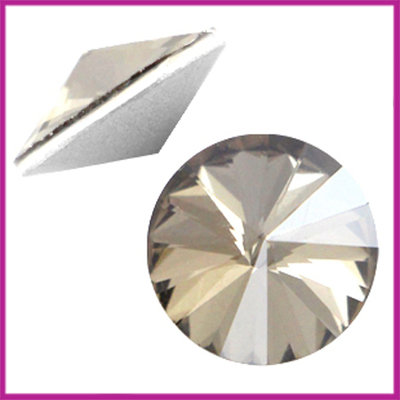 LC Rivoli puntsteen 1122 - 12mm Crystal satin
