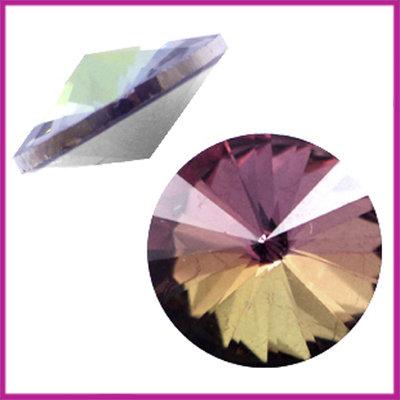 LC Rivoli puntsteen 1122 - 12mm Crystal vitrail brown