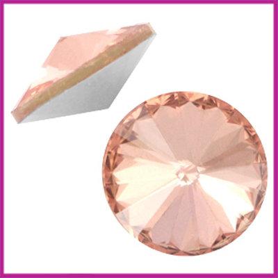 LC Rivoli puntsteen 1122 - 12mm Crystal apricot