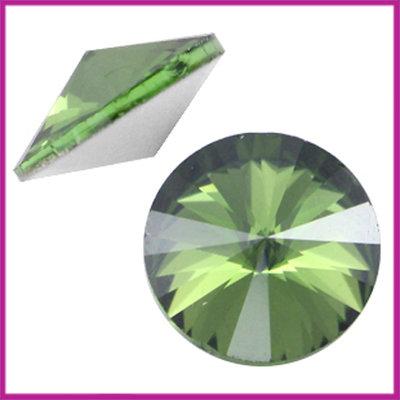 LC Rivoli puntsteen 1122 - 12mm Peridot satin green