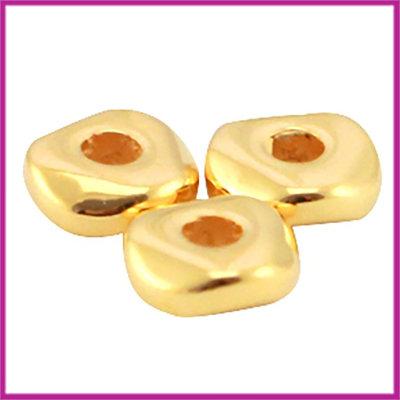 DQ metaal kraaltje ca. 4,8x1,9mm Goud