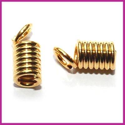 Leerklem spiraal 11x4mm GPL goudkleurig