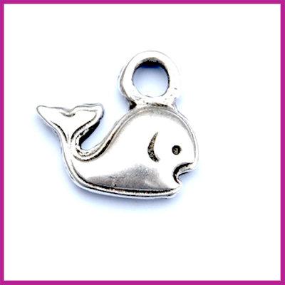 Metaal bedel dolfijn AZ 17x15 mm