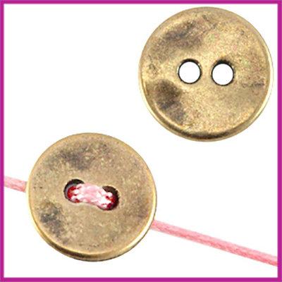 DQ metaal knoop rond 15mm Antiek brons
