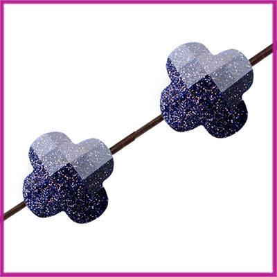 Fashion klaver facet mini 10mm Midnight blue glitter