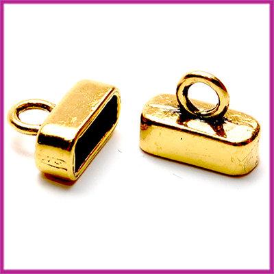 Metaal eindkap voor 10mm plat leer 10x13mm Antiek goud