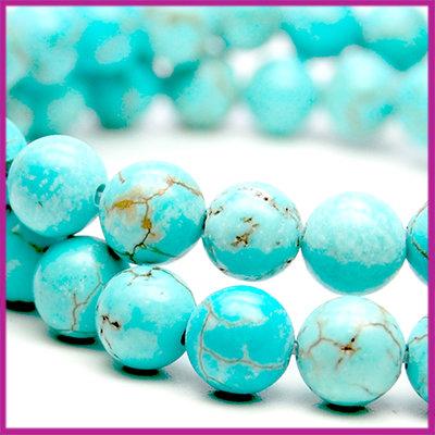 Howelite Turquoise Ø6 mm