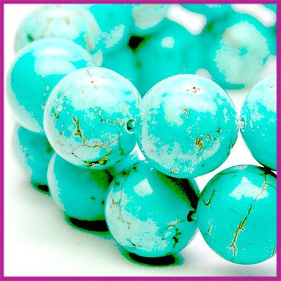 Howelite Turquoise Ø10 mm